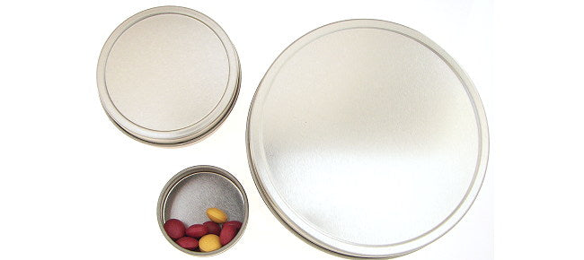 Round Tin Pill Box - Large