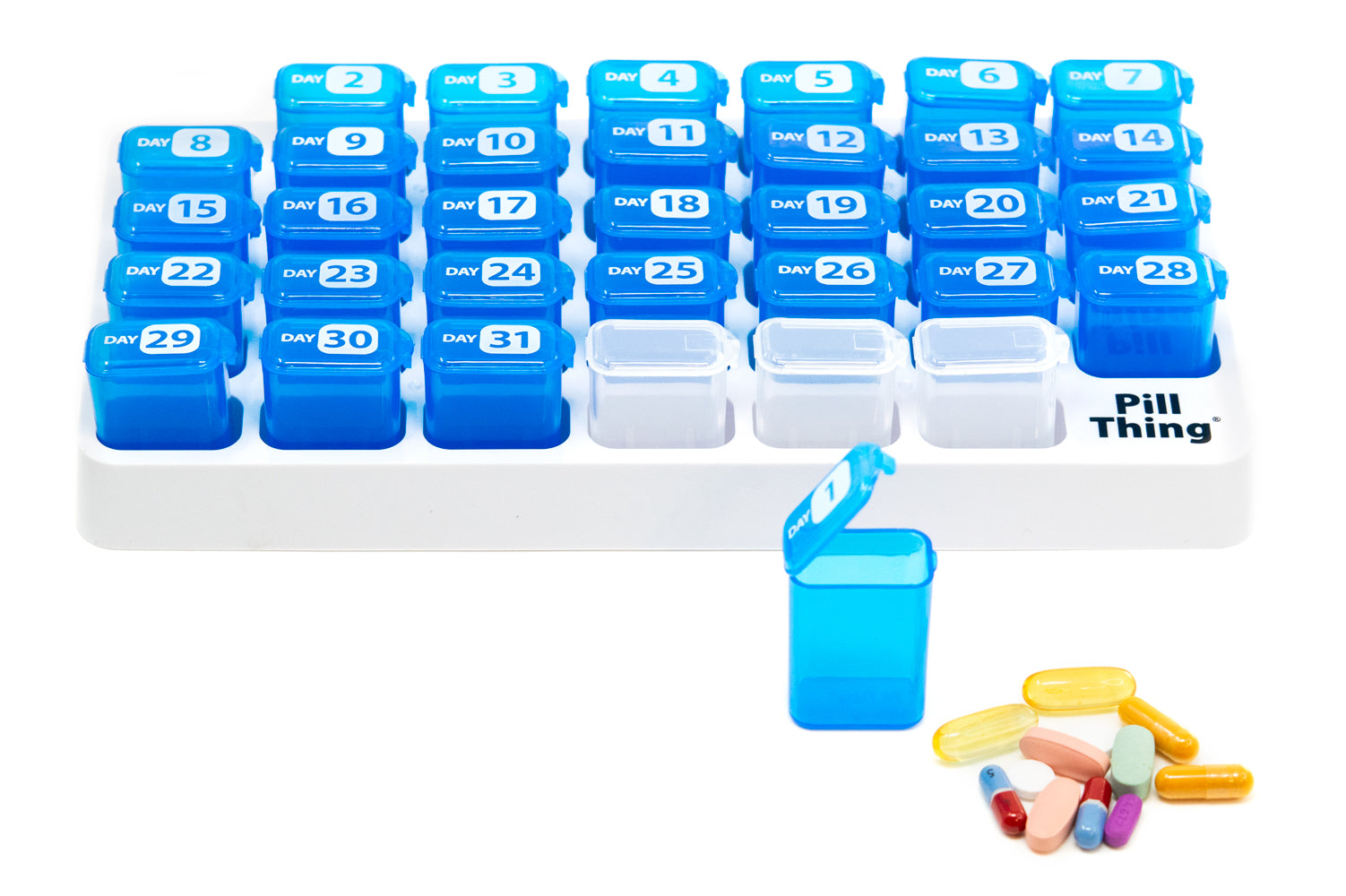 MAXX XXL 31 Day Monthly Pill Organizer with Removable Daily Pods