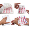 Monthly Cold Seal Medication Blister Cards - Book Fold 6 Pack