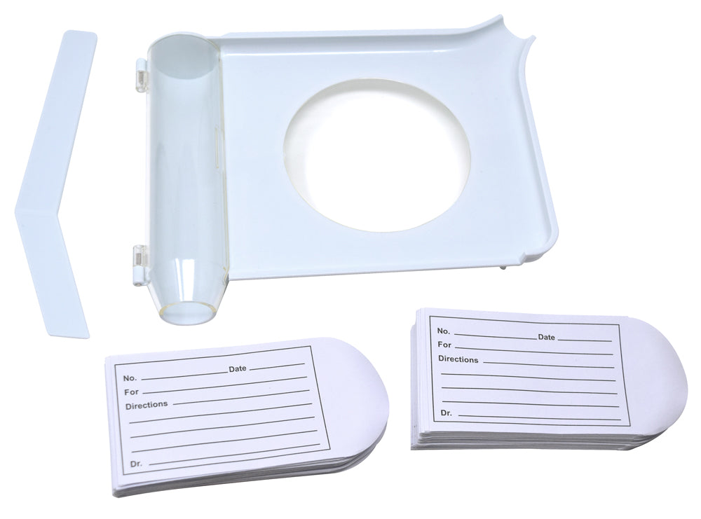 Pill Counting and Sorting Tray Kit with 100 Printed Pill Envelopes
