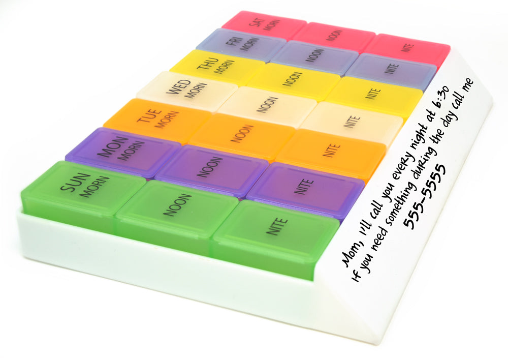 MedWrite 3 Times a Day Weekly Pill Organizer - Jumbo