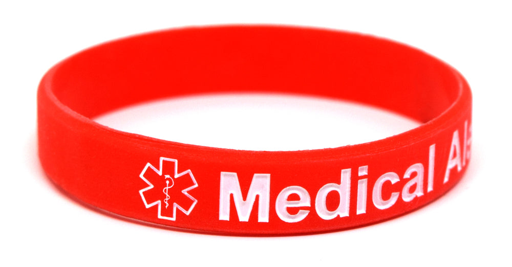 """Medical Alert Card in Wallet"" Bracelet with 2 Medical Alert Cards"
