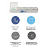 MedWell Smart Pill Box - Bluetooth Pill Dispenser with Alarm