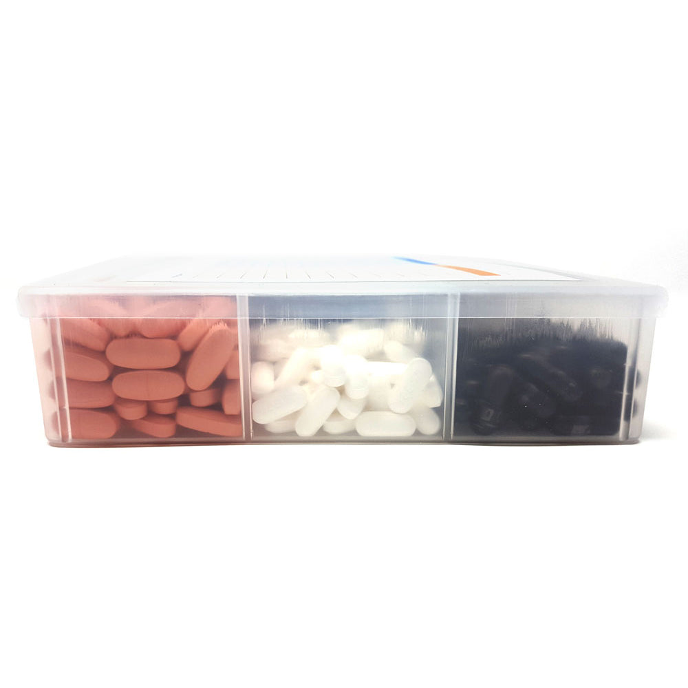 Spanish Pill/Supplement Organizer Tray with 17 Compartments