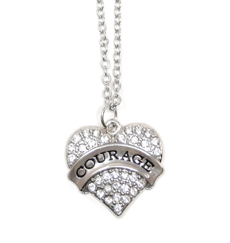 COURAGE Heart Necklace