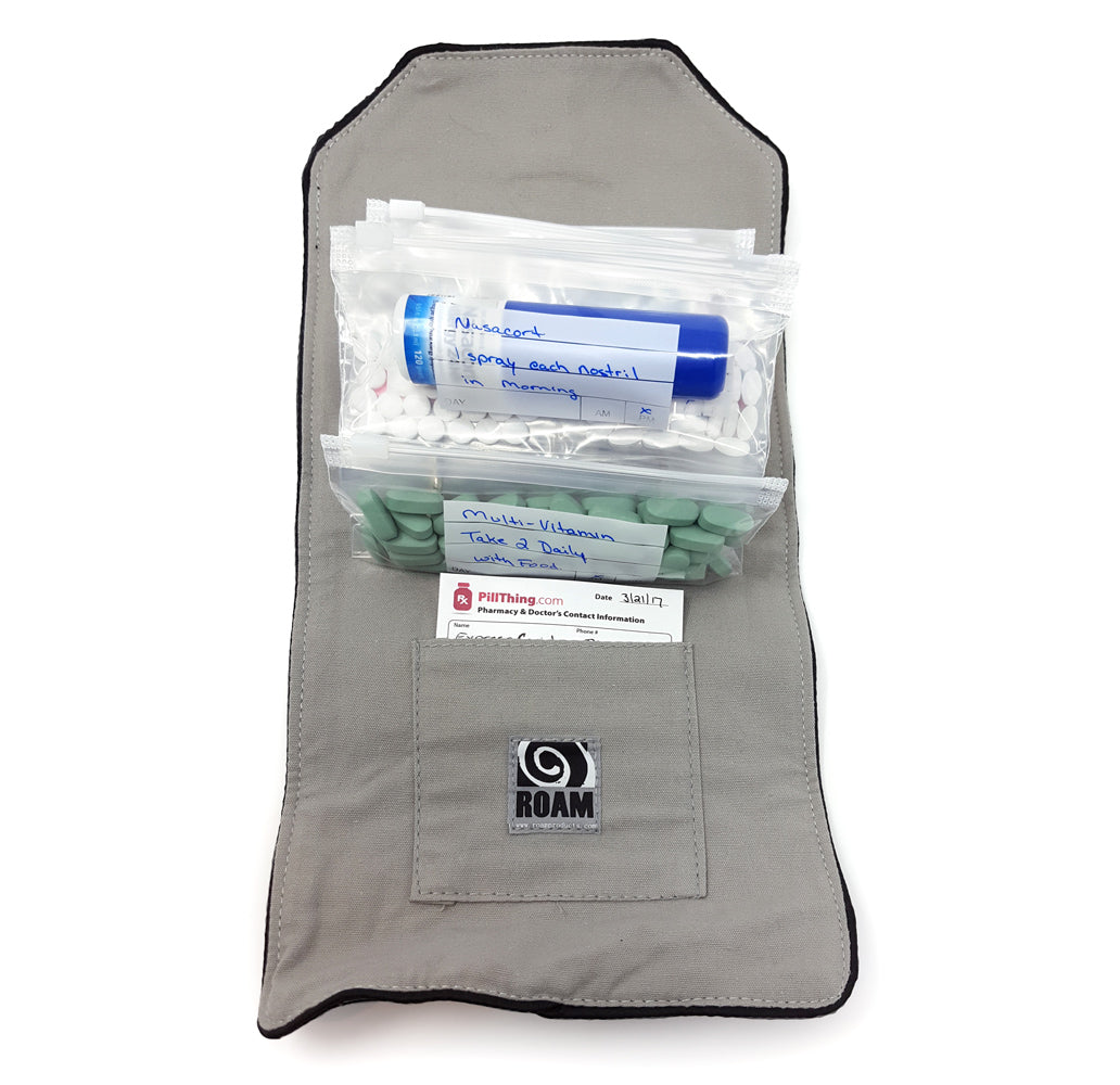 Wellness Travel Pak - Pill Organizer Wallet