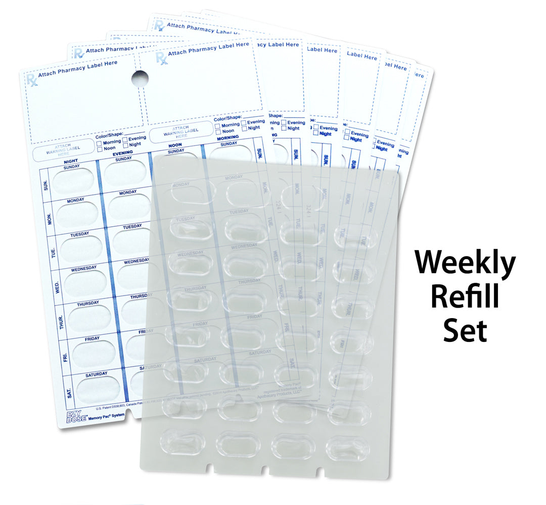Blister Pack Refill -Weekly & Monthly - Regular & XL Blisters