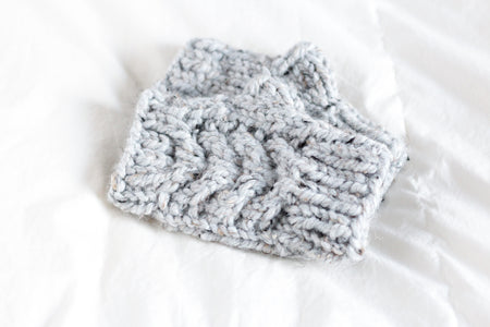 Fingerless Mittens, Chunky Cable Mitt's