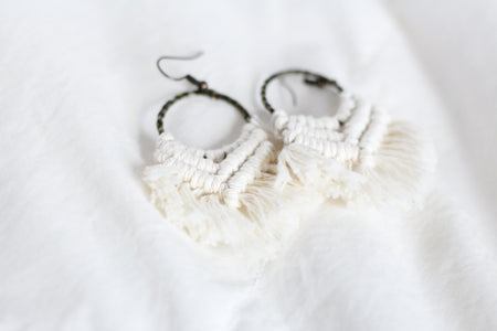 Small Macrame Earrings