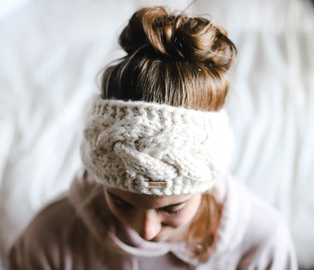 Cable Knit Ear Warmer, Winter Headband