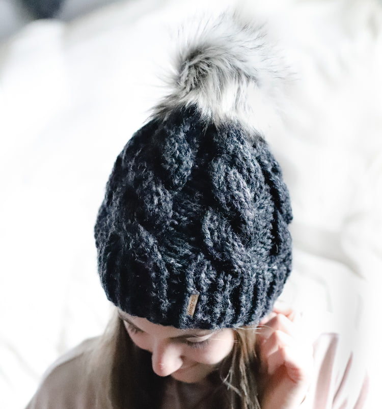 Cable Knit Beanie, Chunky Winter Hat