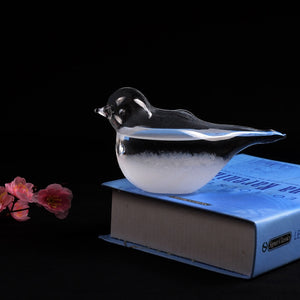 Hot Weather Forecast Crystal Drop Water Bird Shape Storm Glass Home Office Decor