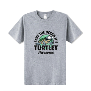 """Save The Ocean It's Turtley Awesome"" T-Shirt"