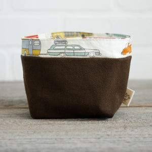 Vintage cars - reusable fabric bin