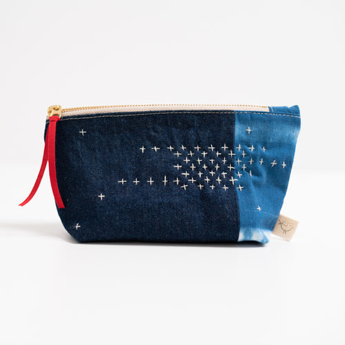 Small Zippered Bag - Indigo