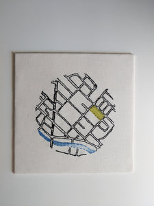 PRE ORDER - Custom Hand Embroidered Map