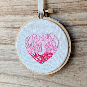 PRE-ORDER - Hand Embroidered Personalized Heart Version Two