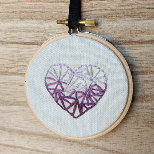 PRE-ORDER - Hand Embroidered Personalized Heart Version Three