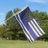Thin Blue Line American Flag With Grommets 3 X 5 Feet - BackYourHero