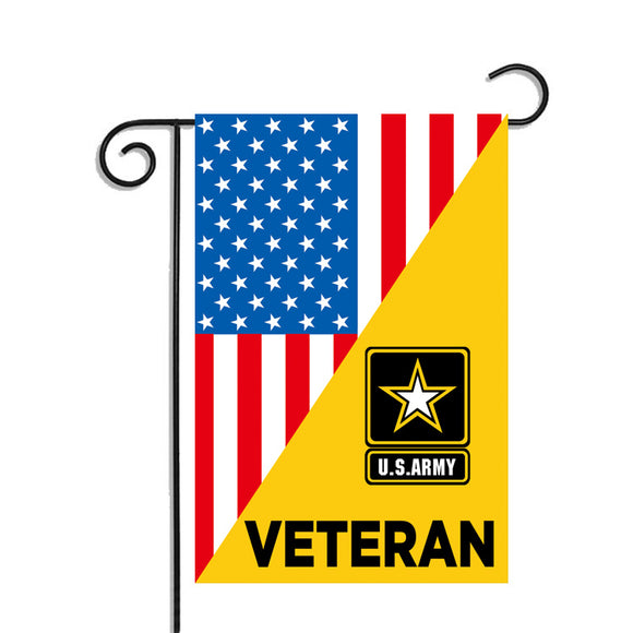 Veteran U.S Army Garden Flag 12.5 X 18 Inches - BackYourHero