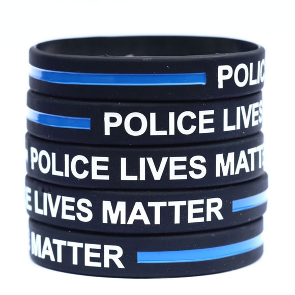 Police Lives Matter Thin Blue Line Bracelet - BackYourHero
