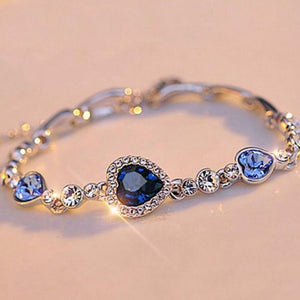 Virtuous Blue Heart Link Bracelet for LEO Love! - BackYourHero