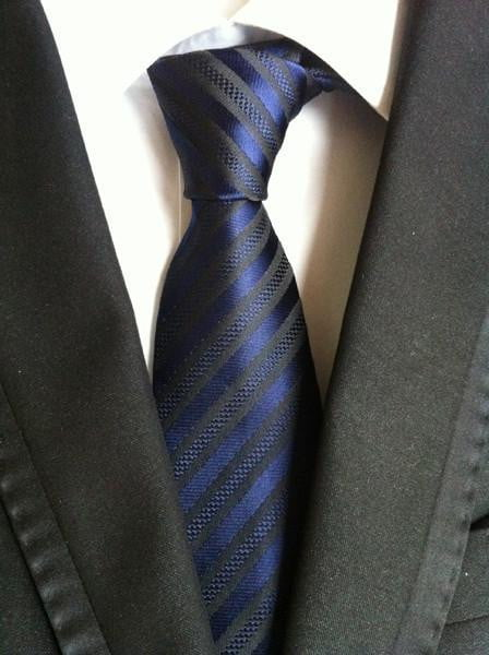Elegant Thin Blue Line Striped Tie - BackYourHero