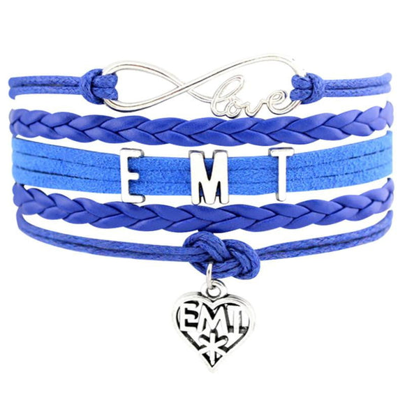 Cute Leather Charm EMS/EMT Bracelet! - BackYourHero