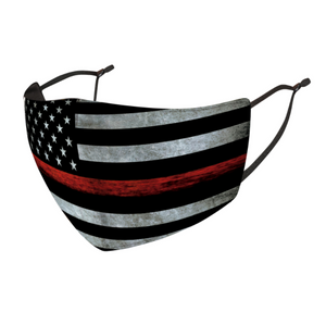 Thin Red Line Premium Face Mask - Firefighter Support