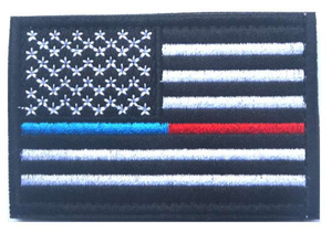 Thin Blue & Red Line Velcro Patch - BackYourHero