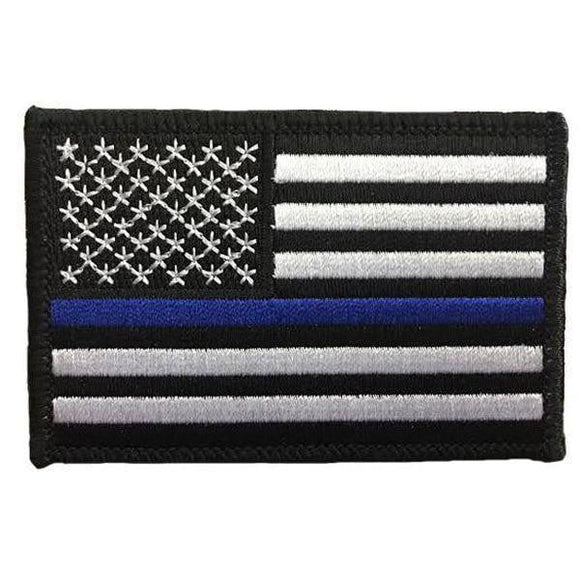 Thin Blue Line Velcro American Flag Patch - BackYourHero