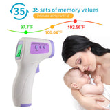 Touch-Free Infrared Forehead Thermometer - Fahrenheit & Celsius - FDA Approved - BackYourHero