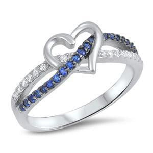 Elegant Thin Blue Line Heart Ring - BackYourHero