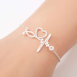 Elegant Nurse Bracelet infused with Hearts, a Pulse & a Stethoscope! - BackYourHero