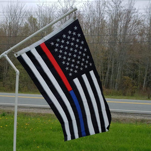 Thin Red & Blue Line American Flag With Grommets 3 X 5 Feet - BackYourHero