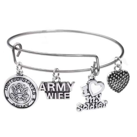 Gorgeous Army Wife Charm Bracelet - BackYourHero