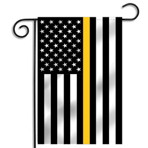 Thin Gold Line Garden Flag for Dispatchers 12.5 X 18 Inches - BackYourHero