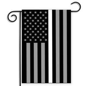 EMS EMT Thin White Line Garden Flag - 12.5 X 18 Inches - BackYourHero