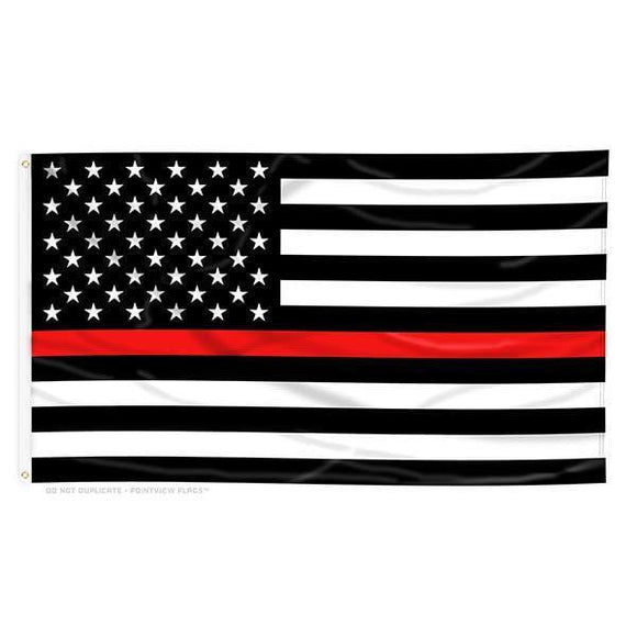 Thin Red Line American Flag With Grommets 3 X 5 Feet - BackYourHero