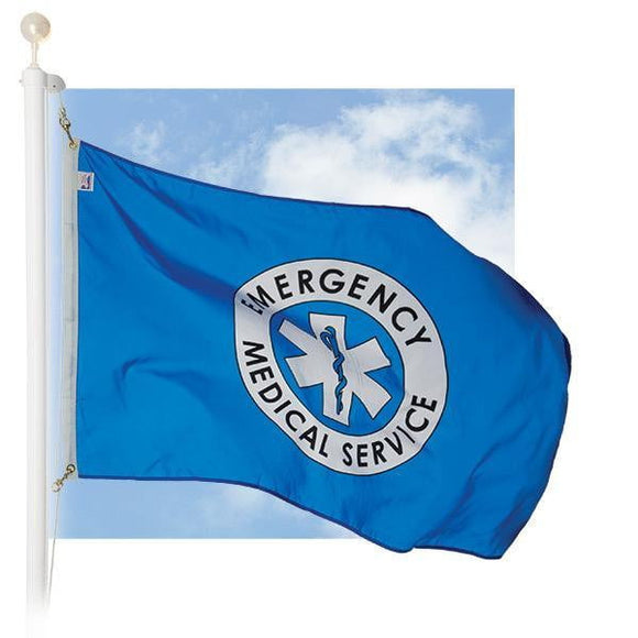 EMS/EMT Flag - 3 X 5 Ft - With Grommets - BackYourHero