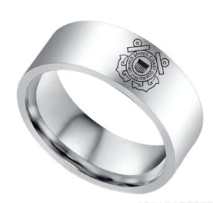 Elegant U.S Coast Guard Ring - Pure Titanium! - BackYourHero