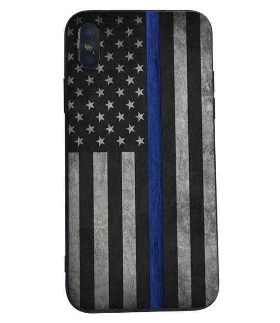 Thin Blue Line Cell Phone Case - Available in iPhone & Samsung sizes! - BackYourHero