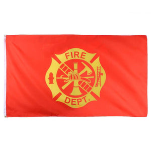 Fire Dept. Flag With Grommets 3 X 5 Feet - BackYourHero