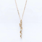 EMS Paramedic Necklace - Silver or Gold - Rod of Asclepius - BackYourHero