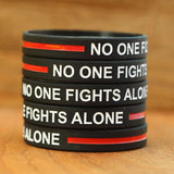 Thin Red Line Bracelet - No One Fights Alone! - BackYourHero