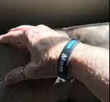 Family Thin Blue Line Police Personalized Bracelet - BackYourHero