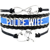 Beautiful Police Leather Charm Bracelet for Moms & Wives! - BackYourHero