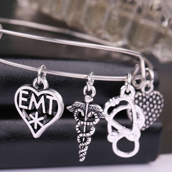 Gorgeous Charms EMS/EMT Bracelet! - BackYourHero