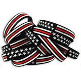Thin Red Line American Flag Bracelet - BackYourHero