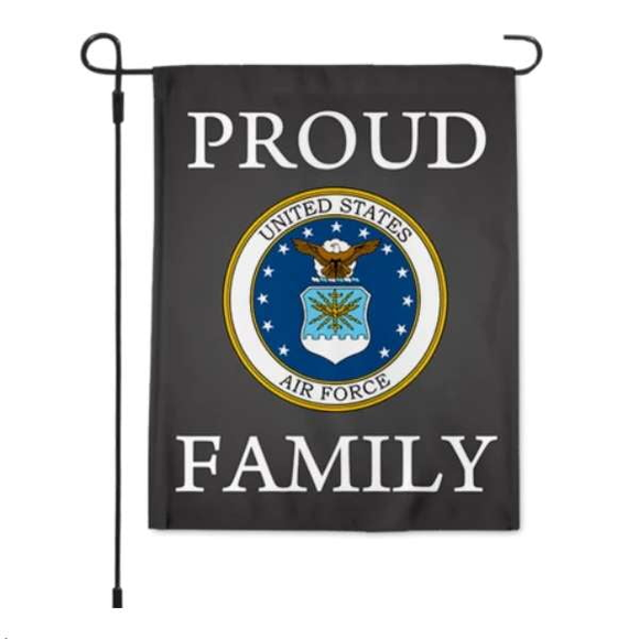 Proud Air Force Family Garden Flag 12.5 X 18 Inches - BackYourHero